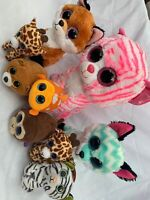Ty Beanie Boo Bundle Asia Piper Slick Plush Giraffe Fox Teddy Joblot Soft Toy