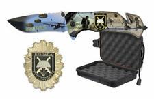 Set Navaja ALBAINOX Brigada Paracaidista, Chapa BRIPAC y Caja Estanca.Caza