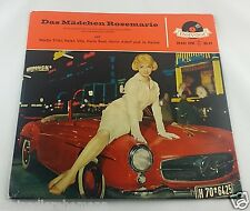 7`EP Nadja Tiller u.a Das Mädchen Rosemarie MERCEDES 190 SL Polydor RARITÄT 1958
