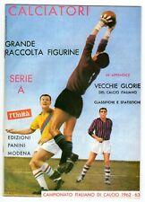 § ALBUM CALCIATORI 1962/63, FIGURINE PANINI - RISTAMPA  L'UNITA',fig. stampate