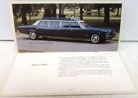 1973 Stageway Coaches Dealer Sales Brochure Pontiac 12 Passenger Custom Limo GM