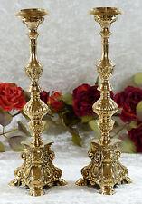 Kerzenleuchter Messing Kirchenleuchter Kerzenständer Kerzenhalter gold Barock