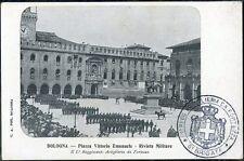1905 Bologna - Piazza Vittorio Emanuele - Rivista Militare