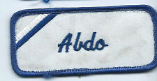 Abdo name tag patch 1-5/8 X 3-5/8