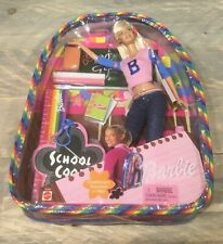 2002 School Cool Barbie doll NRFB Foreign Rare HTF backpack
