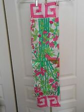 """COTTON--MADE IN THAILAND--HAND ROLLED WHITE/PINKS/GREEN---34"""" X 34"""""""