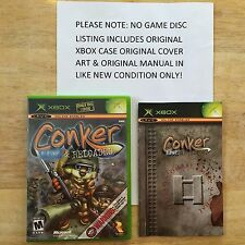 Conker Live & Reloaded Xbox Original Case Cover Art & Manual *NO GAME*