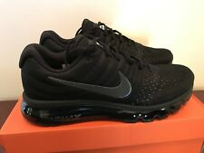 Men Nike Air Max 2017 Running Shoes Black Sz  9