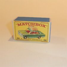 Matchbox Lesney 56 b Fiat 1500 Sedan empty Repro E style Box