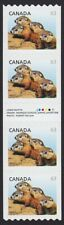 GUTTER / INSCRIPTION COIL Strip of 4 = 63c RATE = WOODCHUCKS Canada 2013, #2692i