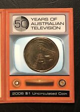 """2006 50th Anniversary Of Australian Television $1 coin UNC - """"S"""" Mintmark"""