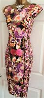 🎀 Phase Eight Floral Illusion Party Summer Wedding Evening Occasion Dress 14
