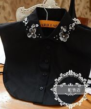 Women's Girls Fake SHIRT COLLAR Detachable Removable Necklace Choker Collar JL27