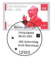 BRD 2001: Erich Ollenhauer Nr. 2174 mit dem Berliner Ersttags-Sonderstempel! 1A!