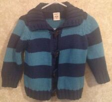 6-12 Months Old Navy Sweater Blue Navy Stripes Wooden Buttons