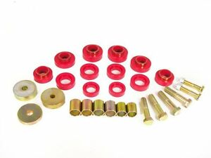Prothane 67-81 Chevy Camaro Firebird Body Mount Bushing Kit with Hardware (RED)
