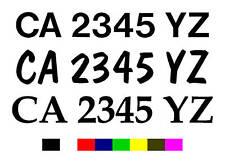 Boat Registration Number Decals Vinyl PWC Lettering 3in