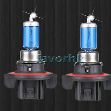 2x H13 9008 6000K Xenon Gas Halogen White Light Lamp Bulbs 100W 12V Sale