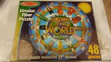 "Melissa & Doug Children of the World Jumbo Jigsaw Floor Puzzle 32"" Multicultural"