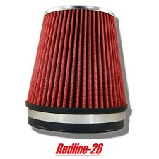 """Red Universal Short Cone Truck Cold Air Filter Replacement (6"""" / 152 mm)"""