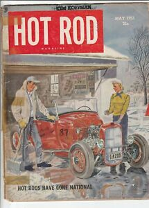 Hot Rod Magazine May 1951 Issue Hot Rods Have Gone National