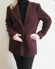 Ladies Wool & Cashmere Blazer Jacket size 10 Burgundy Maroon inc 100% silk scarf
