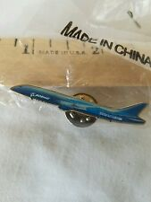 Boeing 787 Airplane Enameled Metal Tie Tack Hat Lapel Pin Pinback New in Package