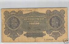 POLOGNE 10 000 MAREK 11.3.1922 N° C 3338266 PICK 32