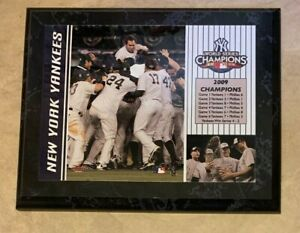 """New York Yankees 2009 World Series Champions Plaque Wall Hanging 8""""x10"""""""