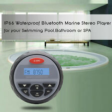 Bluetooth Marine Stereo Waterproof Radio FM AM Receiver Boat Motorcycle Yacht