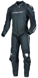 New AGVsport Podium One Peice Leather Race Suit CE Armour YKK zips