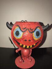 "6"" Halloween Devil Candle Light Holder Retired Department 56"