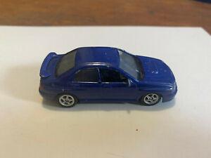 """Welly Subaru Impreza WRX STi 2002 diecast blue car """"1/64"""""""