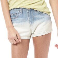 adidas Neo Womens Selena Gomez Denim Shorts, Blue Denim, W27, New