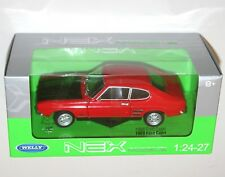 Welly - 1969 FORD CAPRI (Red + Black Bonnet) - Die Cast Model Scale 1:24