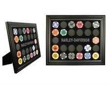 Harley-Davidson® Black 26 Poker Chip Collectors Frame Display (13x11) 6927D