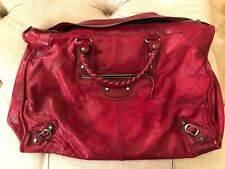 Authentic Balenciaga 2003 D tag Red Weekender Bag Rare, With Issues