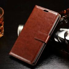 Luxury PU Leather Magnetic Flip Card Wallet Cover Case For iPhone Samsung Galaxy