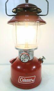 Vintage Coleman 200A Red Single Mantle Lantern July 1974