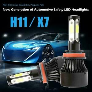 2PCS X7 Series H11 IP67 COB LED Headlight Bulbs 30000LM Auto Headlamps 6000K Car