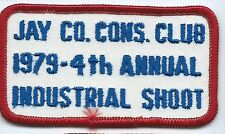 Jay Co. Cons Club 1979 4th annual Industrial shoot patch 2 X 3-5/8