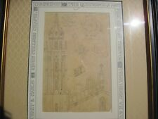 ORIGINAL DRAWING C. 1503 CAMBRIDGE UNIVERSITY ARCHITECTURAL PLANS