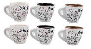 """ARCA - set 6 TAZZINE da Caffè SENZA PIATTINO modello BAR """"GRANDE SPESSORE"""""""