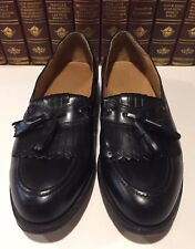 Johnston & Murphy Optima Black Moc Toe Tassle Kiltie Loafers Dress Shoes 10.5D