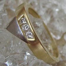 Wow☺ Brillantringe in aus 14kt 585 Gold Ring mit Brillant Ring Weiß Gold Diamant