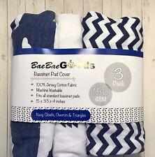 BaeBae Goods Bassinet Sheet Set 3 Pack Jersey Cotton