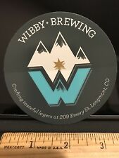 WIBBY BREW BREWING COMPANY LONGMONT CO BEER  BREWERY STICKER Colorado Wibbey