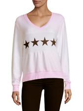 Wildfox Women's Stars Multi color Sweater in tie dye pink size Medium
