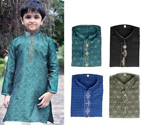 Pakistani Indian Kid Boy Kurta Kameez for Eid Party Wedding Mehndi Age 5 to 16