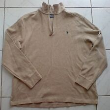 RALPH LAUREN BEIGE ZIP NECK JUMPER LARGE